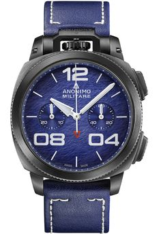 Anonimo Watches - militare-classic - stainless-steel-dlc-blue