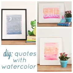 quotes with watercolor paints