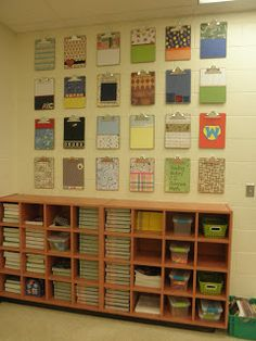 cute clipboards (mod podge and patterned papers) for displaying student…