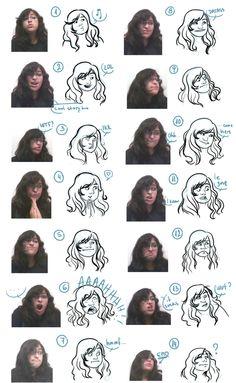Funny facial expressions http://masilvi.tumblr.com/post/5546364705/im-often-told-that-i-draw-funny-facial