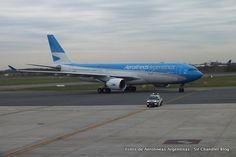 Una linda foto del Airbus A330 de Aerolíneas Argentinas