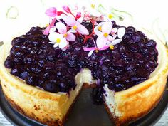 Blueberry cheesecake,  My favorite dessert of all time!  Must try this version.