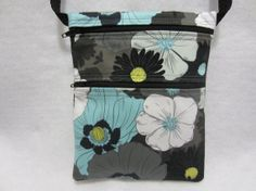 Cross Body Bag Sling Purse Travel Purse Passport Purse by jcobags, $20.00