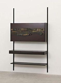 PHILLIPS : UK050109, Osvaldo Borsani and Arnaldo Pomodoro, Unique wall-mounted bar unit