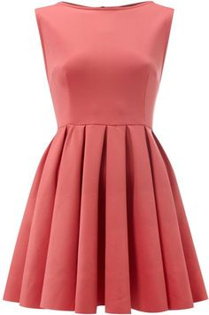 Sleeveless Fit and Flare Scuba Dress