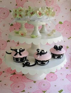 rasberries pink | Pink Champagne Hydrangea Cupcakes filled with Raspberry Chambord ...