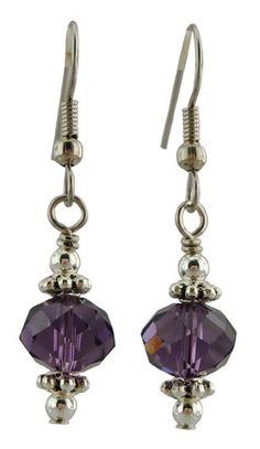 Unique Creations — Purple Sparkle Earrings