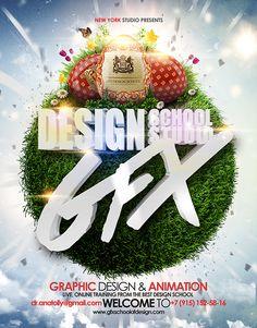 GFX SCHOOL AND STUDIO OF DESIGN ONLINE POSTER CONCEPT on Behance