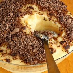 A Sweet and creamy recipe for vanilla custard topped with chocolate. Serve on its own or with canned peaches.. Vanilla Custard and Chocolate Dessert Recipe from Grandmothers Kitchen.