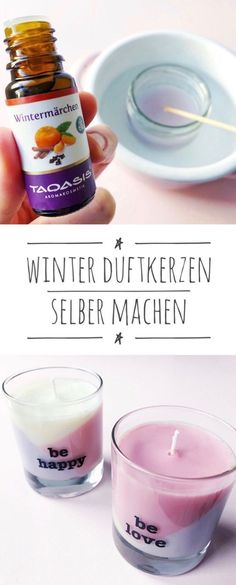 Unkitschige Duftkerzen selber machen mit weihnachtlichem Winterduft Scented candles make Christmas - Here you will find a simple guide to scented candles pour with Christmas scents it Y Diy Candles Scented, 3 Wick Candles, Christmas Scents, Christmas Candles, Candle Molds, Candle Jars, Diy Candle Holders, Homemade Soap Recipes, Perfume