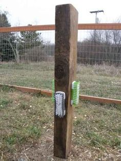 8-toys-for-goats-to-keep-them-busy-Your goats will have a lot of fun with a homemade goat scratcher