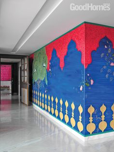 New wall paneling diy simple 32 Ideas Indian Home Interior, Indian Interiors, Wall Design, House Design, Indiana, Ethnic Decor, Boutique Interior, Pooja Rooms, Modern Interior Design