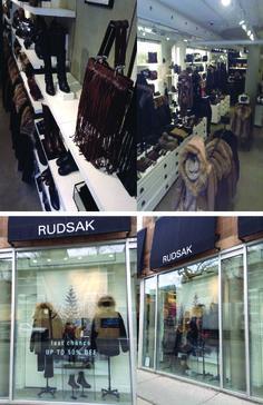 Exterior and interior pictures of Rudsak at Queen Street