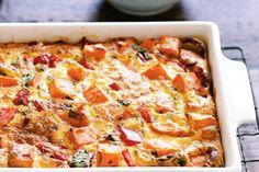 Spicy sweet potato frittata