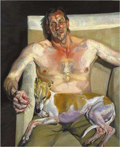 Lucian Freud - Portrait with dog