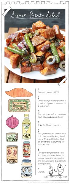 Sweet Potato Salad by The Vegan Stoner.  More at: TheVeganStoner.com