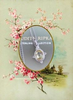 Judith Ripka Sterling Arielle Collection Crystal White Sapphire Pendant Necklace #Pendant