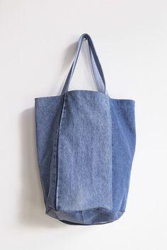 B Sides Tote Bag in Denim   Oroboro