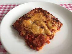 Pittige lasagne met pepers, salami & Gorgonzola | Bekijk dit heerlijke recept op Alles Over Italiaans Eten