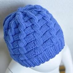 Knit hat // knit cable effect // PDF - Instructions . - Knit hat // knit cable effect // PDF instructions - Knitting Projects, Knitting Patterns, Crochet Patterns, Easy Knitting, Knitting Needles, Motif Simple, Simple Pattern, Knitted Hats, Crochet Hats