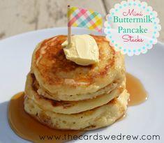 The BEST pancake recipe made MINI and cute!