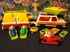 Vintage Fisher Price Little People Pop Up Camper - how sweet is that!