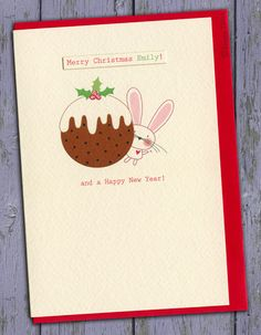 Personalised Christmas Card by Little Brown Rabbit ~ @Carly Monks