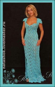 """diy_crafts- """"Long Crochet Dress with side slit"""", """"Veronica crochet y tricot."""", """"Ravelry: Lazy, Stupid, and Godless discussion topic - Sexy crochet Crochet Skirts, Crochet Clothes, Crochet Lace, Prom Dress Shopping, Online Dress Shopping, Lace Patterns, Clothing Patterns, Knit Dress, Dress Skirt"""
