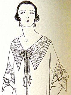 1920s Sewing patterns. Fancy collar and by ContrapuntPatterns