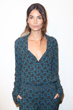 WHO: Lily Aldridge    WHERE: Michael Kors Collection Spring 2016 show, New York City  WHEN: September 16, 2015