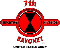 "Amazon.com: 7TH INFANTRY DIVISION* BAYONET* U.S. MILITARY CAMPAIGNS LAMINATED PRINT ON 18"" x 24"" QUARTER INCH THICK POSTER BOARD: Everything Else"