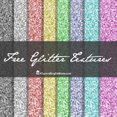 A Typical English Home: How To Make Glitter Text In Photoshop