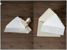 DIY envelope liners! amazingly simple, and they add so much