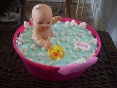 Bathtime Bubbles Cake: I made this adorable bathtime bubbles baby cake. I…