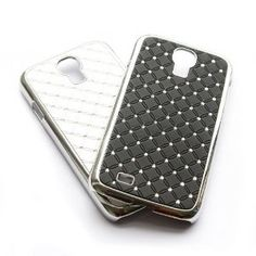 Amazon.com: 2pcs X Rhinestone Bling Chrome Plated Case Cover for Samsung Galaxy S4 S IV i9500 (color:black,white) + 1 gift: Cell Phones & Accessories