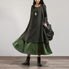 Loose cotton dress -Buykud