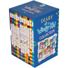 NEW Diary of A Wimpy Kid 12 Bestselling Books Collection Gift Set by Jeff Kinney Roald Dahl Collection, Book Collection, Wimpy Kid Series, Avengers Room, Wimpy Kid Books, Nerd Room, Books For Tweens, Jeff Kinney, Aesthetic Stickers