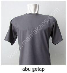 Kaos O-neck Lengan Pendek Abu Gelap