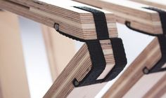 "63 Grad (""63 Degrees"") is the name of this folding bench done by Angelina Barkschat, Finn Blumel and Severin Arnold, all students at Germany's Muthesius Academy of Fine Arts and Design"