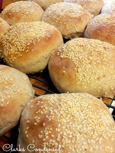 Homemade hamburger buns -- you'll never go back to the store bought kind again!
