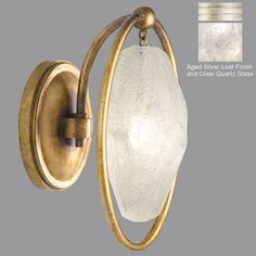 Fine Art Lamps 864950-11ST Quartz and Iron Aged Silver LED Lighting Sconce - FIN-864950-11ST