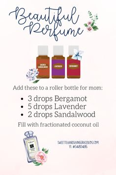 Treat mom with Young Living essential oil natural perfume. Jasmine Essential Oil, Essential Oil Spray, Sandalwood Essential Oil, Essential Oils Guide, Essential Oil Perfume, Essential Oil Diffuser Blends, Young Living Essential Oils, Tangerine Essential Oil, Jasmine Oil