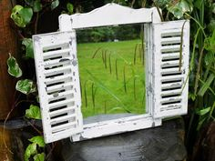 Garden Shutter Mirror Large,  - Olive and Sage, Olive and Sage  - 1