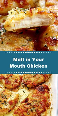 Melt in Your Mouth Chicken – Foodie Mom Kitchen Chicken Thigh Recipes Oven, Yummy Chicken Recipes, Crockpot Recipes, Cooking Recipes, Oven Chicken, Boneless Chicken, Healthy Chicken, Cooking Tips, Slow Cooker
