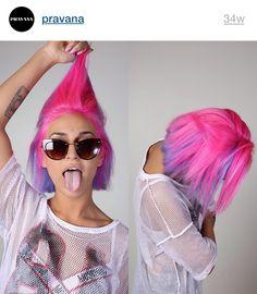 Short hair | Bob cut | pink and purple hair| pravana