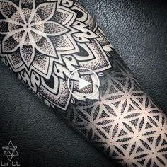 TATTOOS BY BINT - Closer.- TATTOOS BY BINT – Closer. Mandala Tattoo Design, Dotwork Tattoo Mandala, Mandala Tattoo Sleeve, Sleeve Tattoos, Tattoo Designs, Tattoo Ideas, Dot Tattoos, Trendy Tattoos, Forearm Tattoos