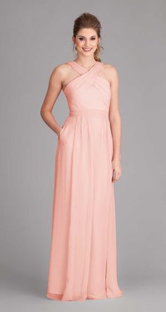 Royal|Stella Chiffon Bridesmaid Dress $185 ---  I'd like to see what other colors there are. =) I like the design but not crazy with the color. =)
