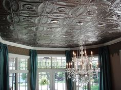 metal ceiling tiles - Google Search, I like everything about this picture, ceiling, windows, walls, and lighting... yes yes yes