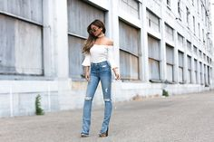 Get this look: http://lb.nu/look/8226339  More looks by Jessi Malay: http://lb.nu/mywhitet  Items in this look:  Lovers+Friends  Natalia High Rise Grlfrnd Skinny Jeans, Lover+Friends  White Bell Sleeve Bodysuit   #casual #chic #classic #jessi #malay #mwt #denim #jeans #bodysuit
