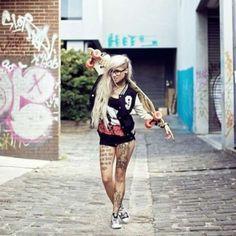 Longboard and tattoos